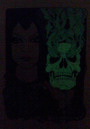 Dark Nouveau glowing skull